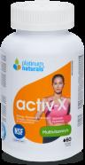 Activ-X Multi-vitamin for Active Women, NSF 60 softgels (Platinum Naturals)