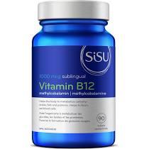Vitamin B12 Methylcobalamin, 1000 mcg, 90 sublingual tablets (Sisu)