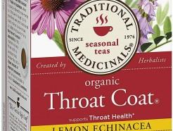 Throat Coat Tea, Lemon Echinacea, 20 teabags (Traditional Medicinals)