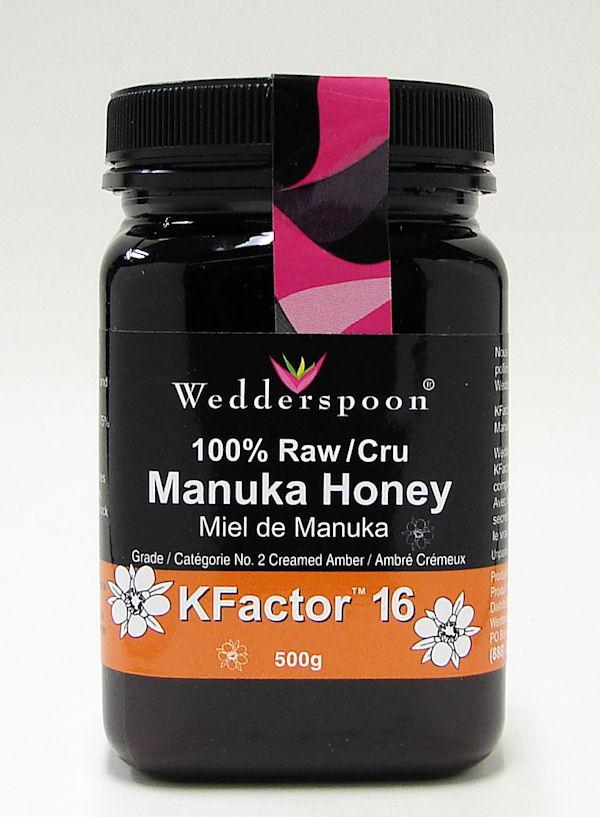 100% raw manuka honey, KFactor 16, 500g (wedderspoon)