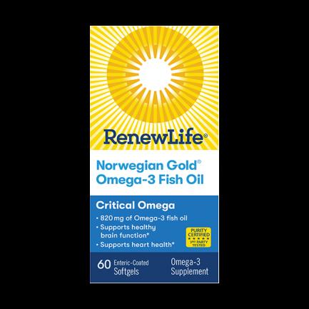Norwegian Gold Super critical Omega, 60 softgels (Renew Life)