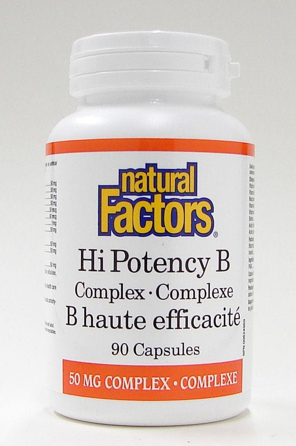 Hi Potency B Complex, 90 capsules  (Natural Factors)