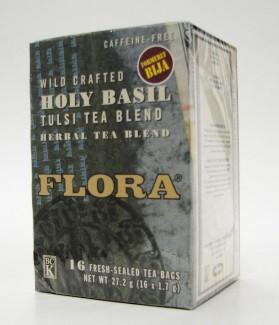 flora wild crafted holy basil tulsi tea blend, 16 tea bags (flora)