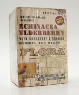 flora echinacea elderberry with cranberry & rooibos herbal tea blend, 16 tea bags (flora)