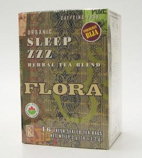flora sleep zzz herbal tea blend, 16 tea bags (flora)