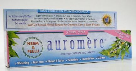 auromere ayurvedic herbal toothpaste, foam-free, 75 ml (auromere)
