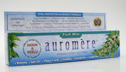 auromere ayurvedic herbal toothpaste, fresh mint, 75 ml (auromere)