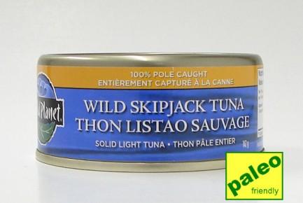 wild skipjack tuna, solid light tuna, 142 g (wild planet)