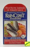 wild pacific sardines in tomato sauce, 120g (rainCoast trading)
