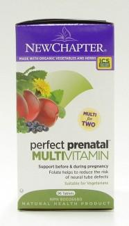 perfect prenatal multivitamin, 96 tabs (new chapter)