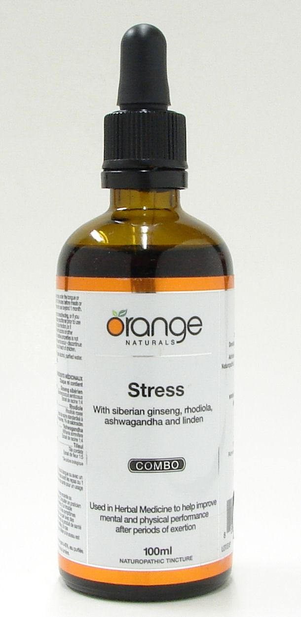 Stress combo, with Siberian ginseng, Rhodiola, Ashwagandha and Linden,100 ml (Orange Naturals)