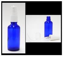 50 ml cobalt blue bottle with atomizer (alypsis)
