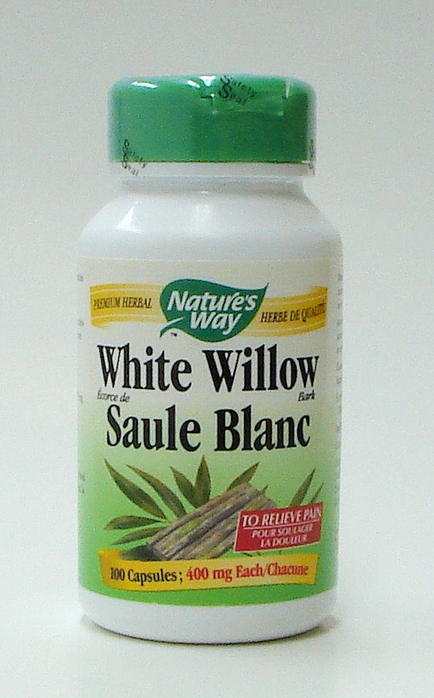 White Willow bark, 400 mg, 100 capsules (Nature's Way)