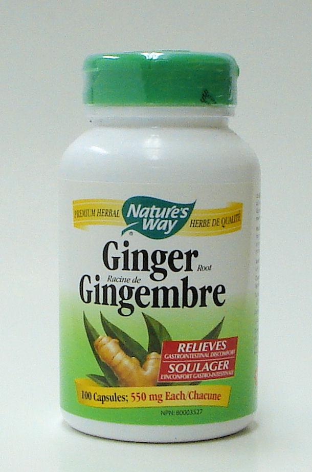 Ginger, 550 mg, 100 vegicaps (Nature's Way)