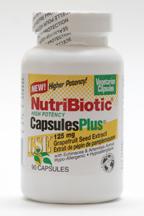 NutriBiotic CapsulesPlus with echinacea, contains Grapefruit Seed Extract, 90 vegan caps (NutriBiotic)