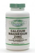 Calcium, Magnesium, Zinc w/Vitamin D, 200 tablets (Organika)
