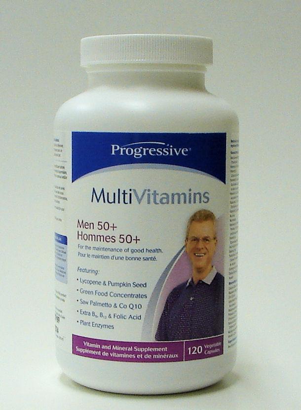 Multi Vitamins, Men 50+, 120 veggie caps (Progressive)