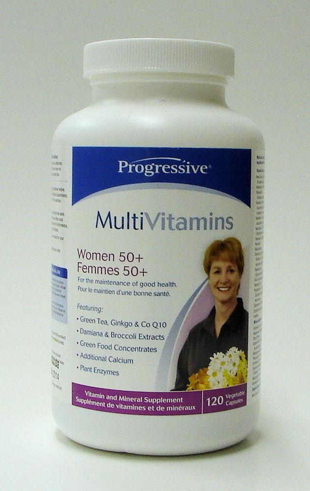 Multi Vitamins, Women 50+, 120 veggie caps (Progressive)