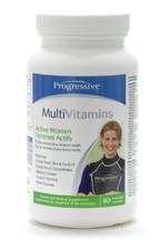 Multi Vitamins, Active Women, 60 veggie caps (Progressive)