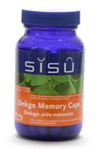 Ginkgo Memory Caps, 60 mg, 120 veggie caps (Sisu)