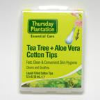 Tea Tree + Aloe Vera Cotton Tips, 12 x 0.18 mL (Thursday Plantation)