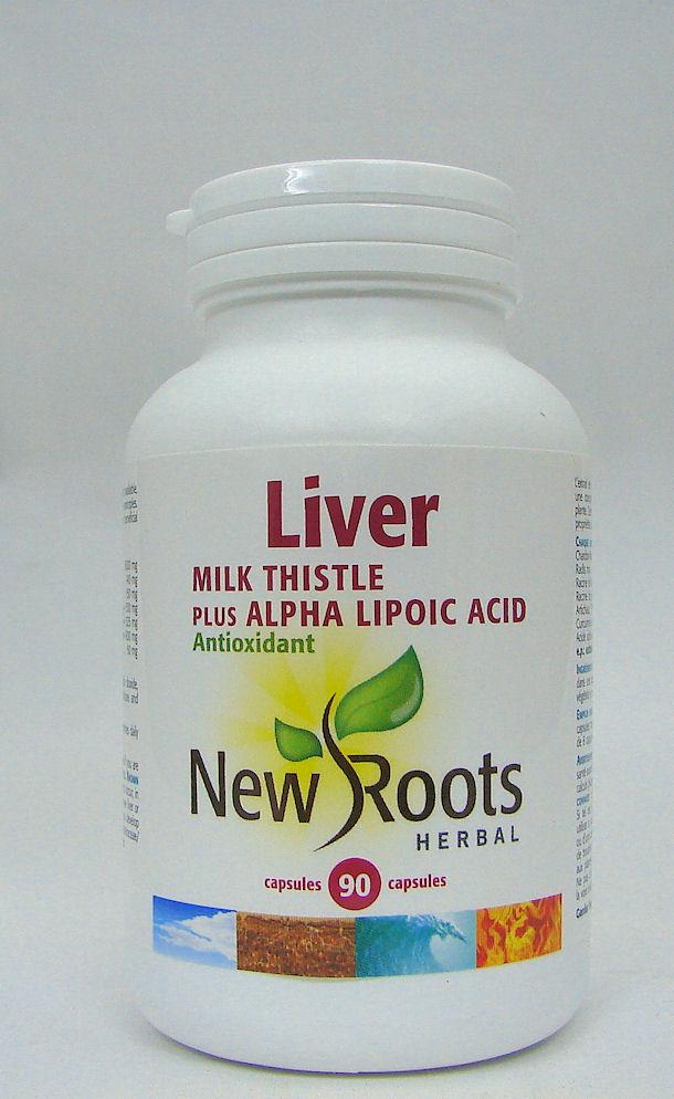 Liver, Milk Thistle plus Alpha Lipoic Acid, 90 caps (New Roots)