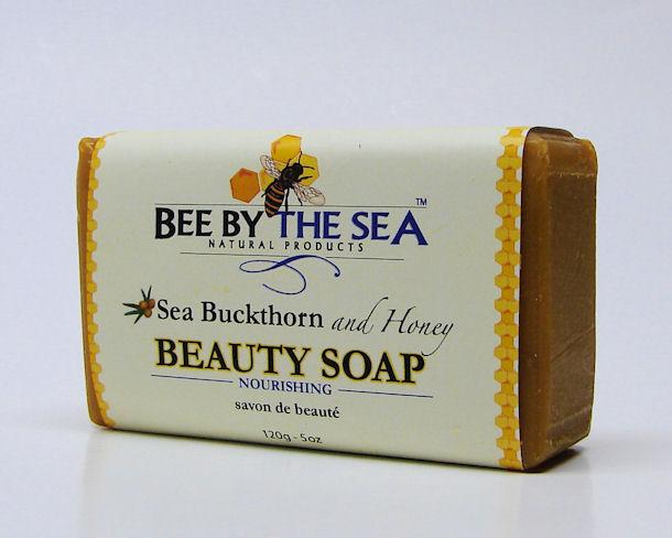 sea buckthorn and honey beauty soap, nourishing, 120ml, (bee by the sea)