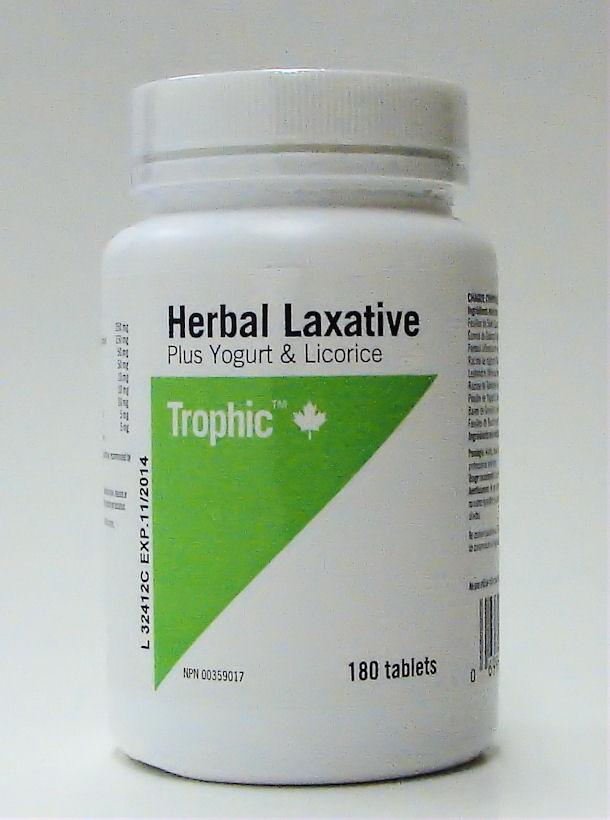herbal laxative plugs yogurt & licorice, 180 tabs (trophic)