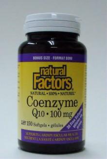 Coenzyme Q10, 100 mg, 150 softgels (bonus size) (Natural Factors)