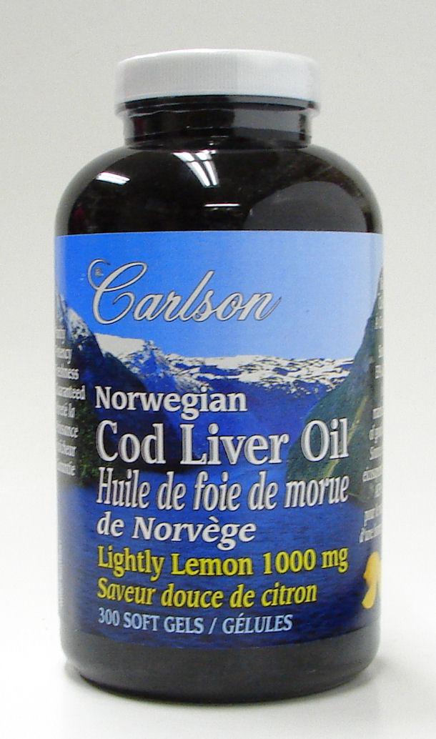 norwegian cod liver oil, 300 soft gels (carlson)
