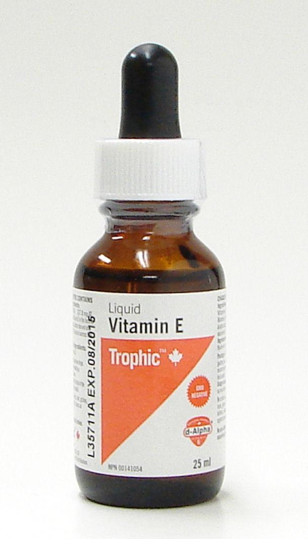 liquid vitamin e, 25 ml, (trophic)