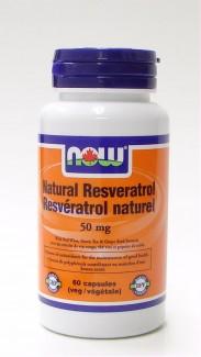 natural resveratrol, 50 mg, 60 v-caps (now)