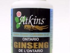 ontario ginseng, 480 mg, 100 caps (atkins)