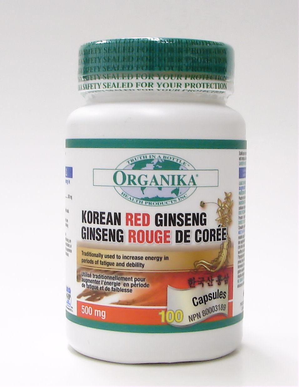 Korean Red Ginseng, 500 mg, 100 caps (organika)