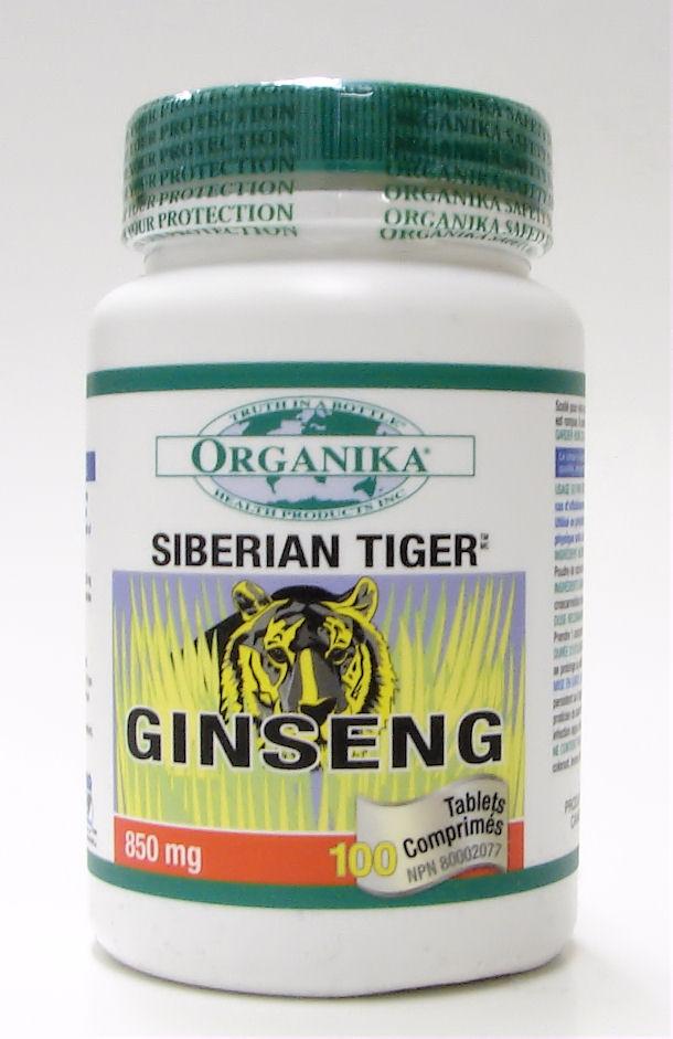 siberian tiger ginseng, 850 mg, 100 capsules, (organika)
