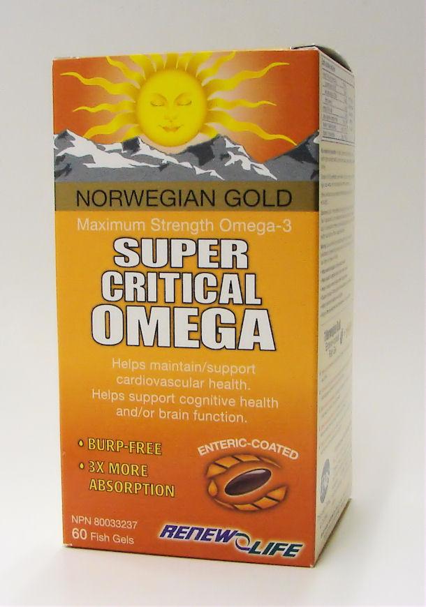 norwegian gold super critical omega, 60 fish gels (renew life)