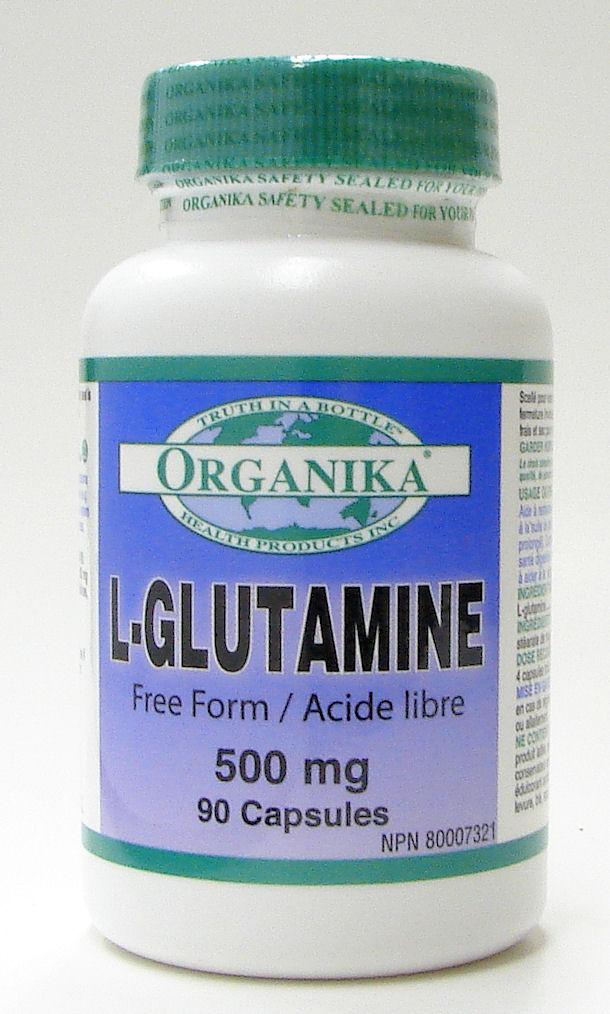 l-glutamine, 500 mg, 90 caps (organika)