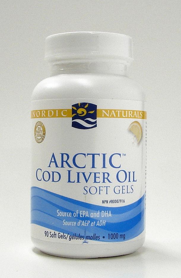 Arctic Cod liver oil, 1000 mg, 90 soft gels (Nordic Naturals)