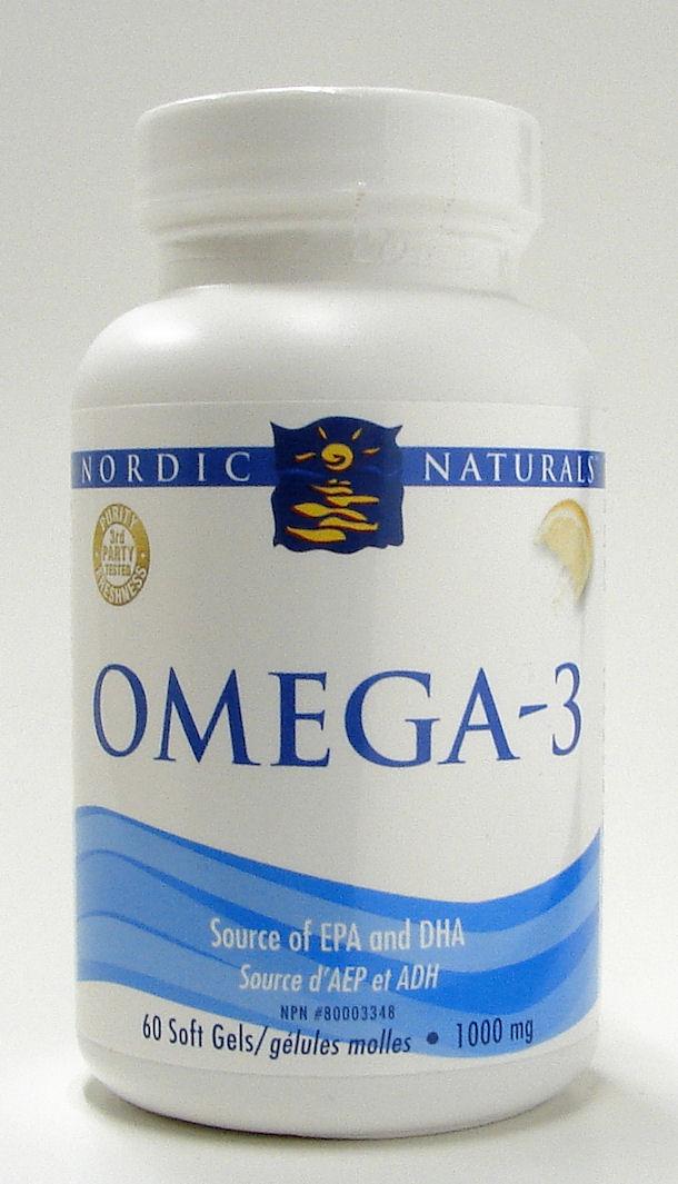 Omega 3, 1000 mg, 60 softgels (Nordic Naturals)