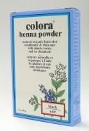 black henna powder, natural organic hair color, 60 g (colora)