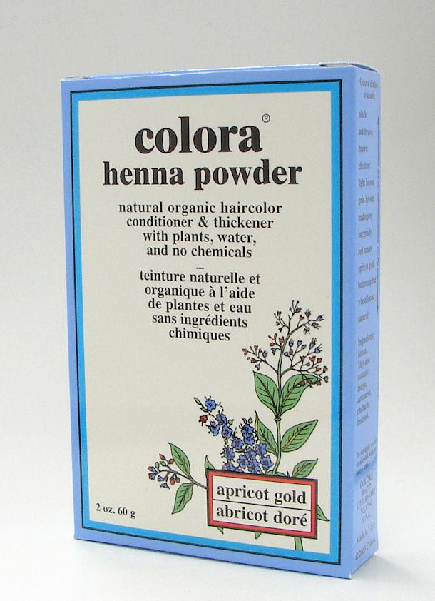 apricot gold henna powder, natural organic hair color, 60 g (colora)