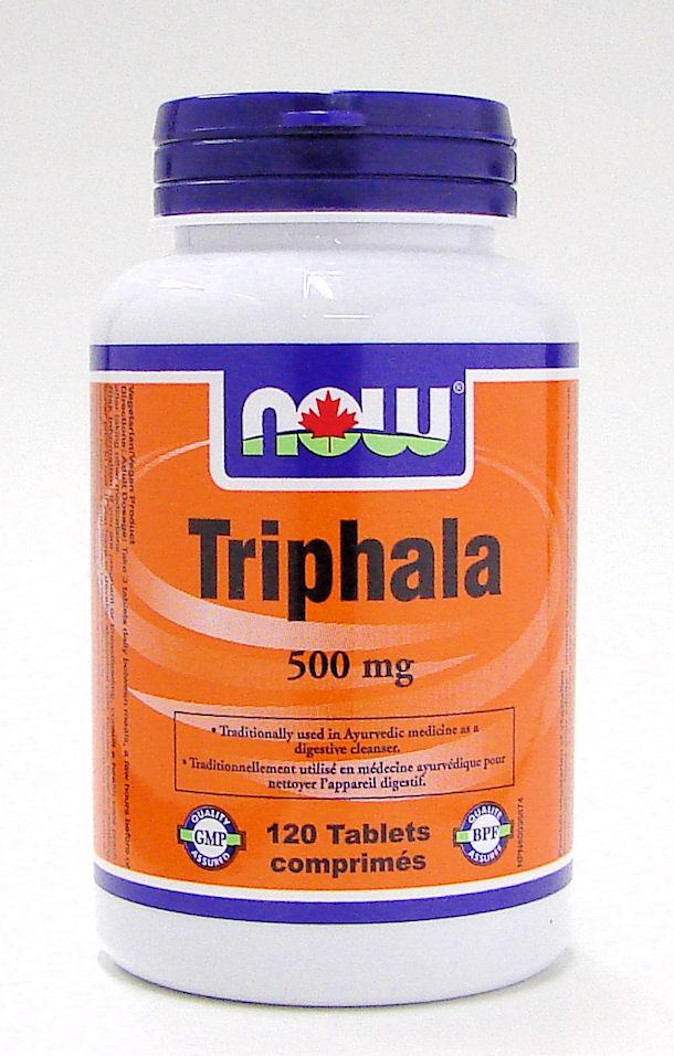 triphala, 500 mg, 120 tabs (now)
