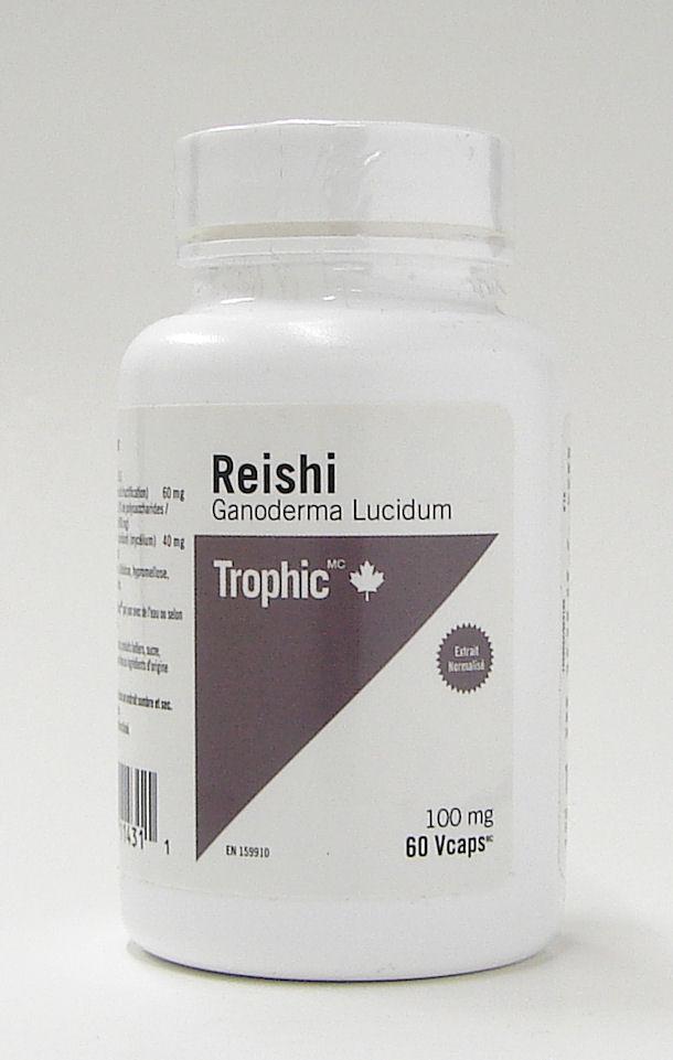 Reishi Ganoderma Lucidum 100 Mg 60 Vcaps Trophic