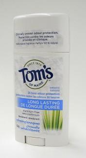 tom's of maine Refreshing Lemongrass natural long lasting deodorant, 64 g (tom's of maine)