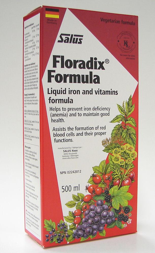 salus floradix formula liquid iron and vitamins formula, 500 ml (flora)