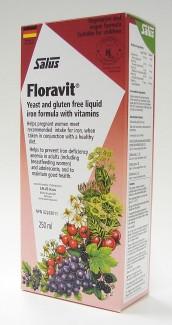salus floravit yeast and gluten free liquid iron formula with vitamins, 250 ml (flora)