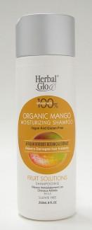 herbal glo fruit solutions organic mango moisturizing shampoo, 250 ml (herbal glo)