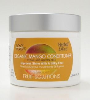 herbal glo fruit solutions organic mango improves shine conditioner, 120 ml (herbal glo)