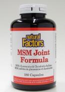 msm joint formula, 180 caps (natural factors)
