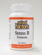 stress b formula plus 1000 mg vitamin c, 90 tabs (natural factors)